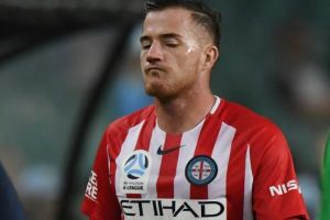Tough break: Ross McCormack of City walks to the bench after an injury.