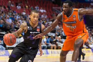 Direct: Jerome Randle drives to the basket against the Cairns Taipans at Qudos Bank Arena.