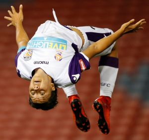 Flipping fantastic: Sam Kerr has made waves this year on both the domestic and world stages.