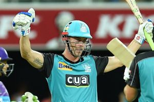 Danger man: Chris Lynn is expected to line up for the Heat against Melbourne Stars on Wednesday night.