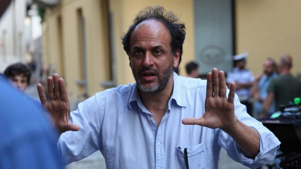 Luca Guadagnino on the set of Call Me By Your Name.