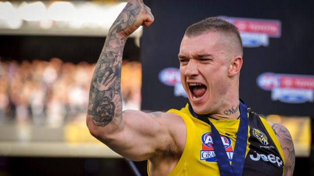 Dustin Martin led Richmond to a drought-breaking premiership triumph in September.