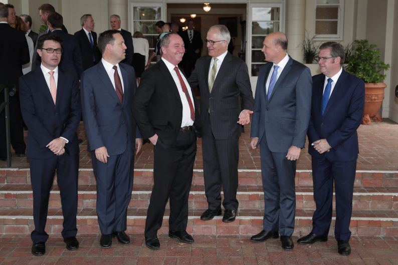 L-R Minister for Agriculture and Water Resources David Littleproud, Minister for Trade, Tourism and Investment Steven ...