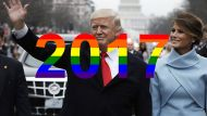 Donald Trump 2017 Year in Review Rainbow flag