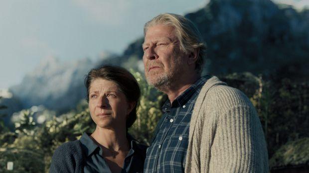 Moral high ground: Rolf Lassgard and Ingjerd Egeberg as the Norweigians, Dr Jorgen Asbjarnsen and Anne-Helene Asbjarnsen.