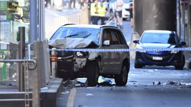 Image result for Melbourne car attack suspect discharged from hospital, back to Police custody