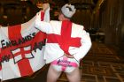Melbourne Crown barmy army christmas party Harry Rymer Greville england Picture wayne hawkins