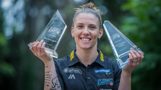 Natalie Hurst was announced the Canberra Capitals' MVP and also the fan favorite at their end of season awards.