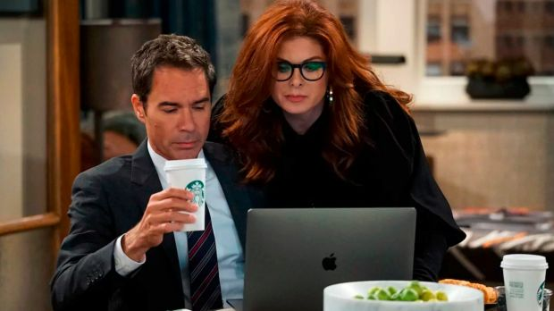 Will & Grace: Eric McCormack as Will Truman, Debra Messing as Grace Adler.