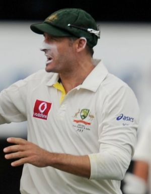 Mike Hussey says that he loves the look of a worn Baggy Green as it is a symbol of the battles he has been involved in.