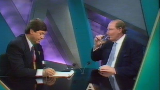 Ray Martin interviews Kerry Packer on A Current Affair.