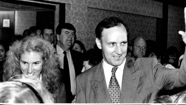 Prime Minister Paul Keating and wife Annita launching the 1994 International Year of the Family in Bankstown.