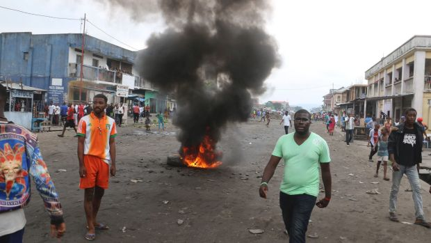 Congolese protest against President Joseph Kabila's refusal to step down from power in Kinshasa, Democratic Republic of ...