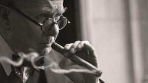 Gary Oldman as Winston Churchill, who he describes as a great self-promoter: 'The Homburg, the cigar, the funny sort of ...