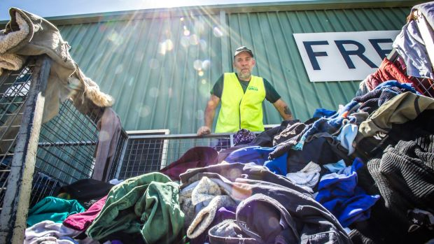 Co-founder The Green shed Charlie Bigg-Wither has been inundated with donations of clothes over the Christmas period. ...