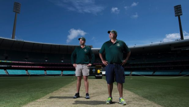 Proud: SCG curator Adam Lewis (right) and grounds manager Justin Groves.