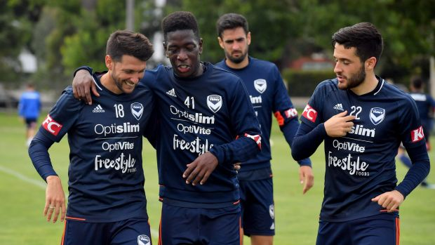 Melbourne Victory trained at Gosch's Paddock on Wednesday.