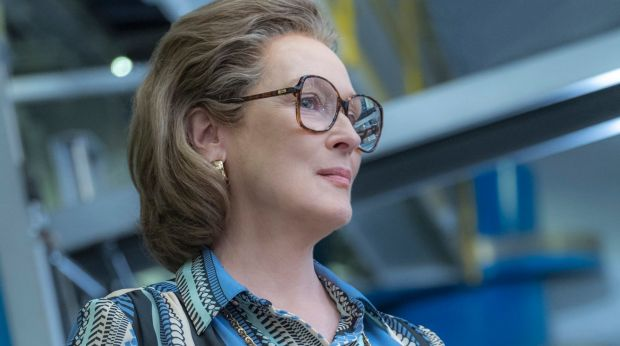 Meryl Streep portrays Katharine Graham in a scene from <i>The Post</i>.