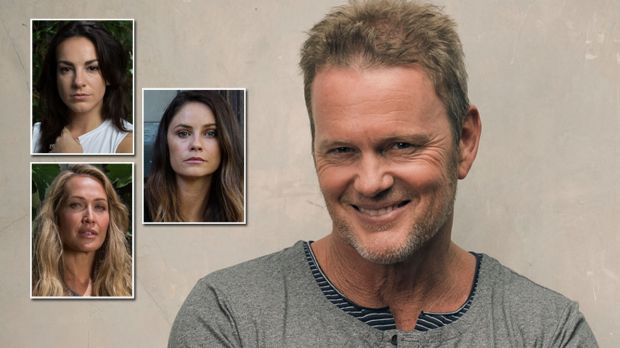 Craig McLachlan and his female accusers (clockwise from top left) Angela Scundi, Christie Whelan Browne and Erika Heynatz.