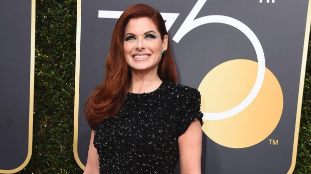 Debra Messing wore black at the 75th annual Golden Globe Awards to protest female inequality in Hollywood.
