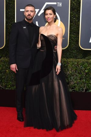 Justin Timberlake wore a Time's Up campaign pin to the 75th annual Golden Globe Awards but many were quick to point out ...