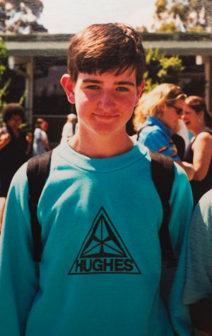 Paul in his days at Hughes Primary School, Canberra.