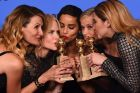 The cast of <i>Big Little Lies</i> (from left: Laura Dern, Nicole Kidman, Zoe Kravitz, Reese Witherspoon and Shailene ...