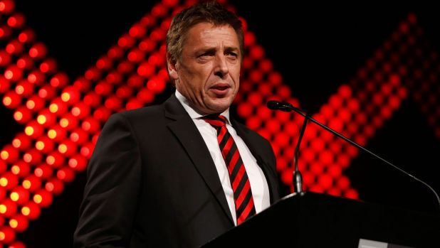 Mark Thompson's Port Melbourne property was raided by Victoria Police on Friday.