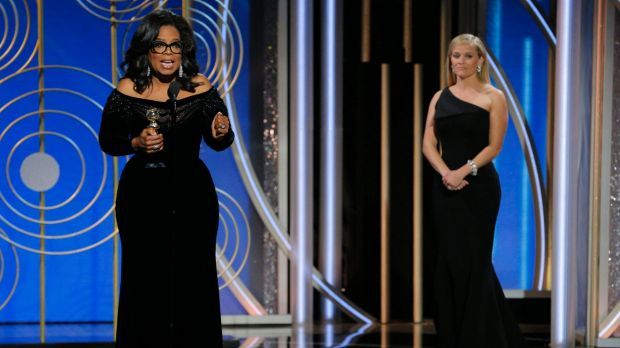 Reese Witherspoon presented Oprah with the Cecil B. DeMille Award at the Golden Globes earlier this year.