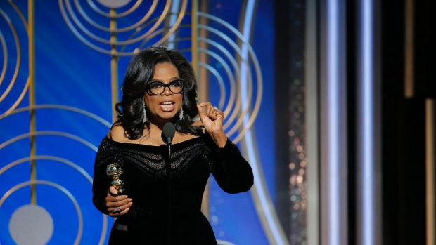 Oprah figured out her speech that afternoon