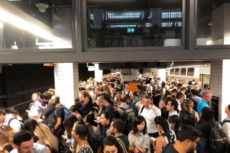 Frustrated commuters at Town Hall station