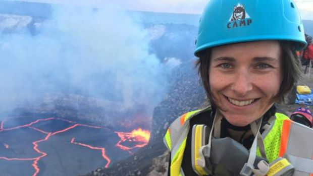 University of Tasmania vulcanologist and lead author of a report about the Havre volcano, Dr Rebecca Carey.