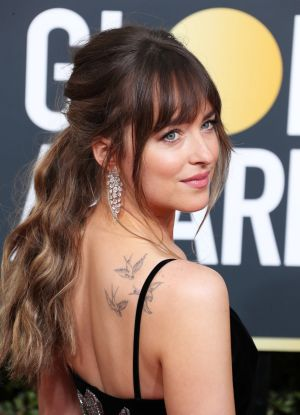 Dakota Johnson at the 2018 Golden Globe Awards.