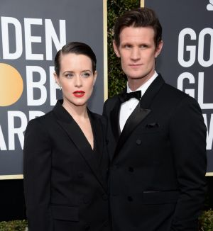 Claire Foy and Matt Smith attend the 2018 Golden Globe Awards.