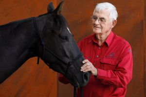 "Terry Snow with his Australian stock horse Erin: ""I'm besotted by horses."""