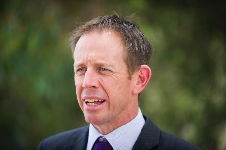 Shane Rattenbury talks about the importance of sustainability at the funding announcement for the battery storage roll-out.