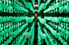 Soyoung Han looks at a display representing LG super UHD TV Nano Cell displays during CES International, Tuesday, Jan. ...