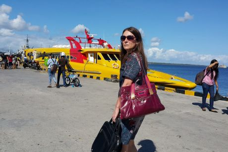 Jewel Topsfield on assignment in Indonesia.