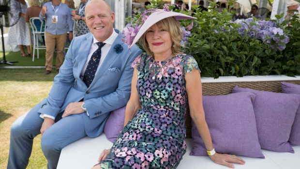 Mike Tindall and Magic Millions owner Katie Page at the race day.