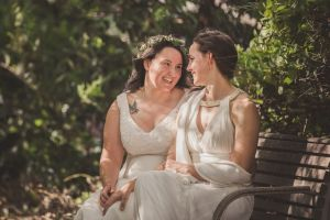 Sally and Kara Bromley are Canberra's first same-sex couple to marry.