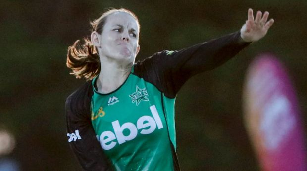 Erin Osborne claimed four wickets against the Heat on Saturday night in Mackay.