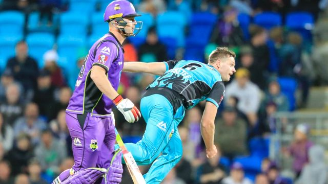 Ratings winner: Hobart Hurricanes and the Brisbane Heat on Monday.