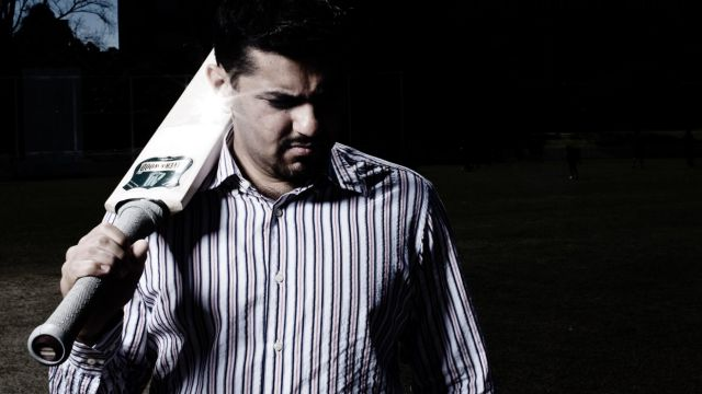Under investigation: Danny Bhandari, seen here in a portrait on a cricket pitch at UNSW. He is is a major player in the ...