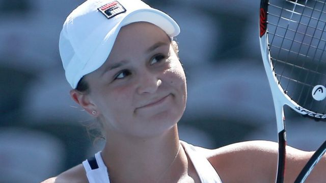 Ash Barty showed grace under fire in her match against Aryna Sabalenka.