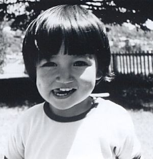 Wong aged three in the early 70s at one of her aunt's houses in Adelaide during her first visit to Australia; at that ...