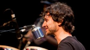 Gotye performing at Carriageworks as part of the Sydney Festival.