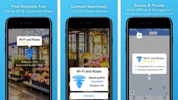 World WiFi is a new app that offers augmented reality to allow users to find free hotspots.