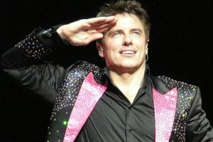John Barrowman channels Doctor Who's Captain Jack Harkness.
