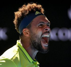 Jo-Wilfried Tsonga was pumped up after his win.