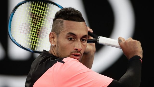Onwards: Nick Kyrgios is through to the next round.
